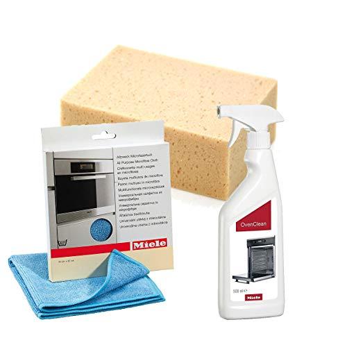 Sparpack Miele Backofenreiniger + Miele Microfasertuch + MARETeam Reinigungsschwamm