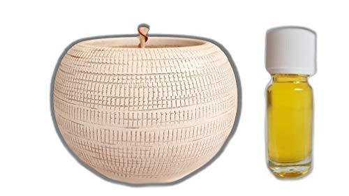 Der Perlenspieler® - Handmade in Germany-Handgearbeitetes Aromafeuer, die Duft-Fackel für Balkon und Wohnzimmer mit reichhaltigem Zubehör und 10 ml Aromaöl Herbststurm