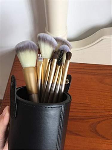 Pinceau de maquillage Set 18 pièces Set 12 pièce Brosse à base de poils d'animaux fard à paupières pinceau à lèvres, 12 barils de brosse