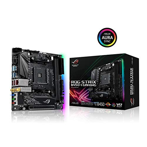 ASUS ROG Strix B450-I Gaming - Placa Base (AMD, Zócalo AM4, AMD Ryzen, DDR4-SDRAM, DIMM, 2133,2400,2666,2800,2933,3000,3200,3400,3466,3600 MHz)
