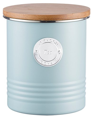 Typhoon Living Pot 1 l, Acier, Bleu, 11 x 11 x 15.5 cm