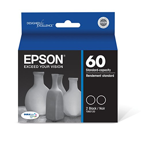 Epson T060120-D2 DURABrite Ultra Dual Black Standard Capacity Cartridge Ink