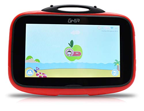 GHIA Tablet Kids 7 Gtabkidsr Quad Core 1Gb 8Gb 2Cam WiFi Bluetooth Android 8.1 GO Edition Catarina Roja con Negro