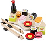New Classic Toys Toys-10593 Pretend Play-Sushi Set, Multicolore Color (10593)