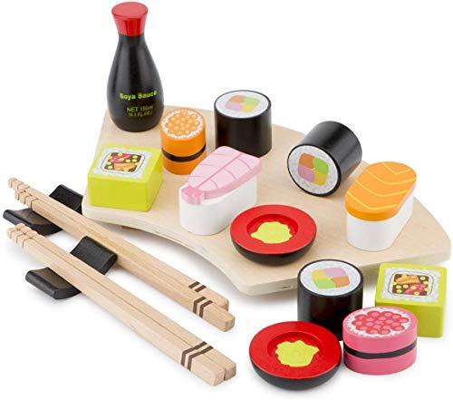 New Classic Toys Set da Gioco in Legno Taglia Il Sushi, Multicolore, 10593