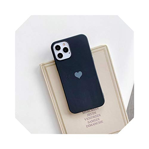 Carcasa para iPhone 12 Pro Mini 11 XS Max XR X 6 6S 8 7 Plus se 2 Soft TPU Silicona Candy Color Back Cover-Black-for iPhone SE 2020
