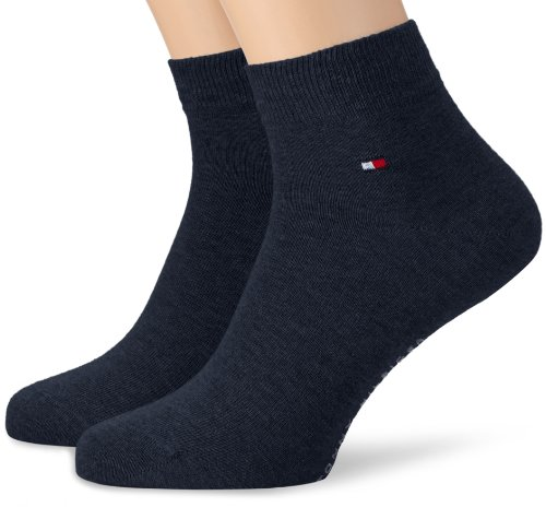 Tommy Hilfiger TH MEN QUARTER 2P - Chaussettes Lot de 2 - Homme - Bleu (Jeans) - 43-46