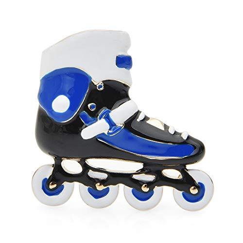 CLEARNICE Broches De Patines Azules para Mujer, Zapatos Deportivos De Aleación Esmaltada, Broches Informales para Fiestas, Regalos