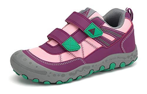 Mishansha Zapatillas de Deporte Niña Transpirable Zapatillas de Senderismo Rosa 31