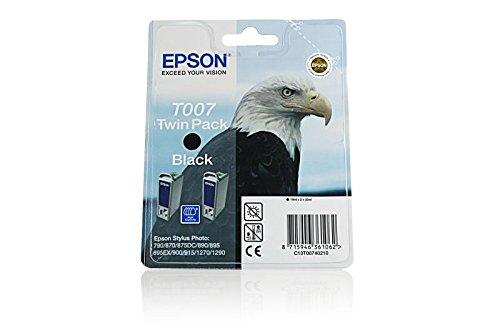 Ink cartridge Original Epson 2 units Black C13T00740210B / T007 for Epson Stylus Photo 1290 S
