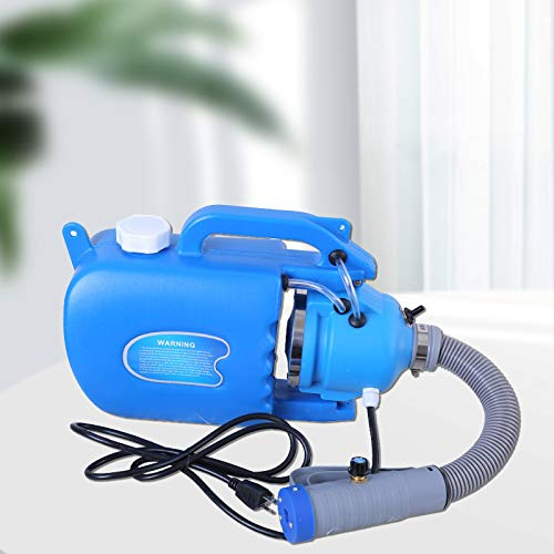 Kacsoo Pulverizador de Nebulización Eléctrico ULV, Máquina Desinfectante de Nebulización En Frío Portátil de 5L, 1200 W, Flujo Ajustable, Manguera Flexible, Rociador de Desinfección Retráctil