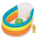 Cute Inflatables Bagnetto Gonfiabile   Casa o Viaggio!   Vaschetta per Il Bagnetto Portatile Facile da Gonfiare   Include Termometro a Forma di Pesce Divertente  
