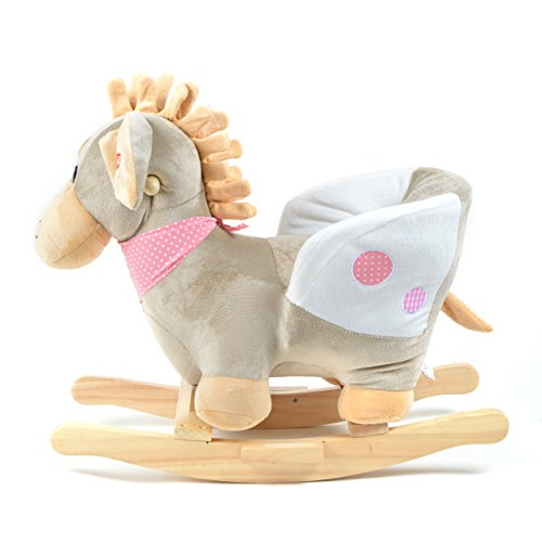 Pink Papaya Schaukeltier – Esel Pepe – Kinder und Baby Schaukelpferd, spezieller Schaukelstuhl für Kinder, mit Sound, Kopfhöhe ca. 50 cm, Sitzhöhe ca. 30 cm - 4