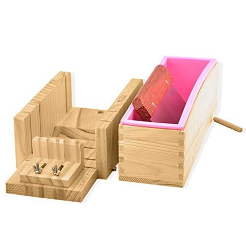 Zeep Maken Kits - 3 stks DIY Handgemaakte Zeep Set Cutter Houten Box 304 RVS Blade Maken - Havermout Kids Levert Alles Melk Maken Geiten Volwassenen Geit Proces Beginners Giet Ess