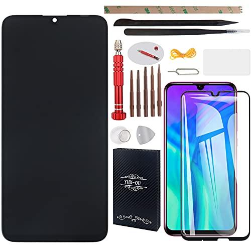 """YHX-OU 6.21"""" para Huawei P Smart 2019 Pot-LX3 Pot-LX1 POT-AL00 Enjoy 9e de reparación y sustitución LCD pantalla táctil Digitizer + con herramientas incluidas y 1 pieza cristal templado (negro)"""