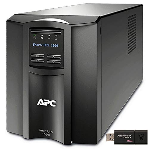 APC Smart-UPS SMT1000C Tower UPS Bundle with SmartConnect, and 16GB...