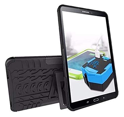 Accesorios De Pestañas para Samsung Galaxy Tab a 10.1 T515 / T510 SM T580 T585, Silicon TPU + PC Shell Stand Stand Tapa + Pen para Galaxy Taba 10.1 (Color : Black, Size : Tab A 10.1 T515 T510)