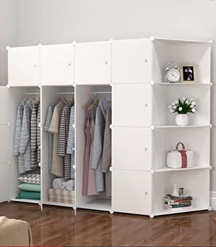 llzshoutao bärbar garderob, kombinationsgarderob, modulära skåp, platsbesparande, idealisk förvaringslåda kubiskt sovrum garderob, vikbar garderob@16-3 hörnskåp