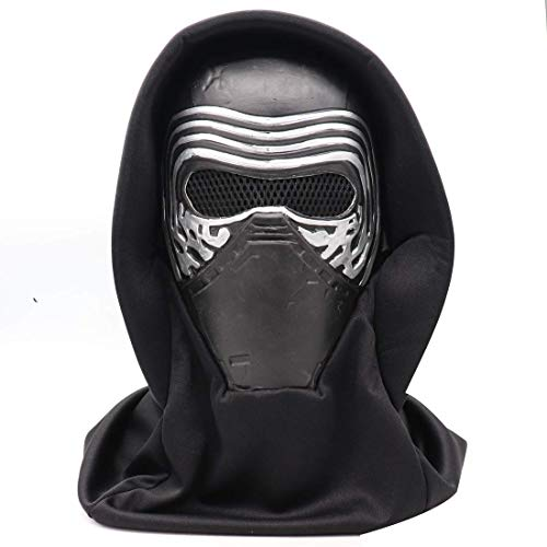 Star Wars Kylo Ren Helm Masker met Hoofddoek, Latex Volledige Head Masker Toy met Halloween Cosplay Costume Props ZHANGKANG (Color : Kylo Ren Mask With Headscarf)