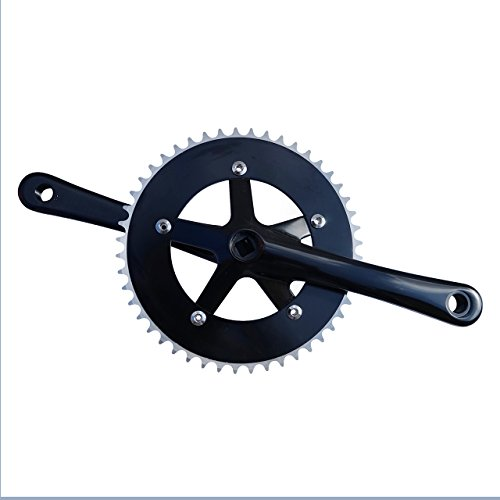 Nuova Alta qualit Track Fixed Gear Road Bike guarnitura 46T 170mm Nero