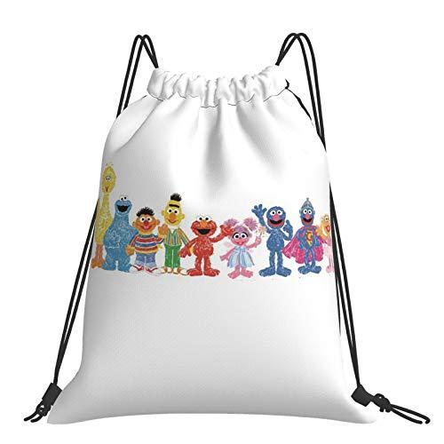 SES-AME Street Drawstring Bags Gym Backpack School Rucksack PE Swim Travel Sports Bag Kids Boys Girls Men & Women
