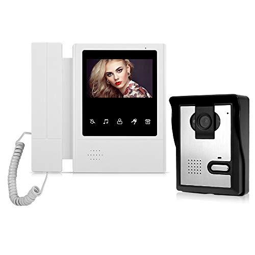 YSAYK 4.3'TFT Color Video Door Phone Intercom System Monitor De Pantalla De Interfono De Timbre De Puerta con Cable con 25 Tonos De Llamada para El Apartamento En Casa (Color : E168-L)