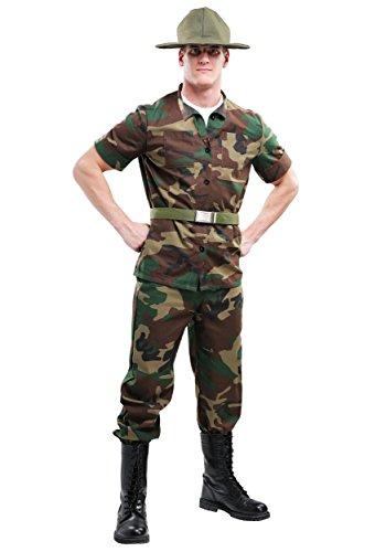 Men's Plus Size Drill Sergeant Fancy dress costume 2X