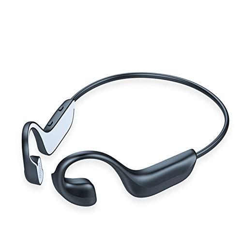 Auriculares Bluetooth de conducción ósea Auriculares auriculares impermeables Auriculares para auriculares con micrófono de cancelación de doble ruido incorporado para deportes, conducción, hogar y of