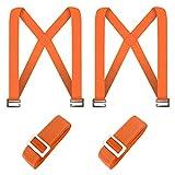 Correas para levantar muebles, sistema de elevación y movimiento para 2 personas, mover, levantar, transportar y asegurar muebles, electrodomésticos y objetos pesados (Naranja)
