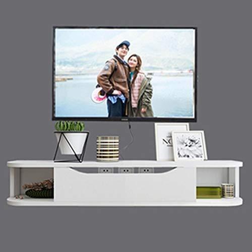 SXFYZCY TV Schrank Massivholz Wandbehang Wohnzimmer Einfach Schlafzimmer Wand Einfach Hängend Set-Top Box Regal Hängend TV Schrank, Länge 130cm * Breite 24cm * Höhe 20cm