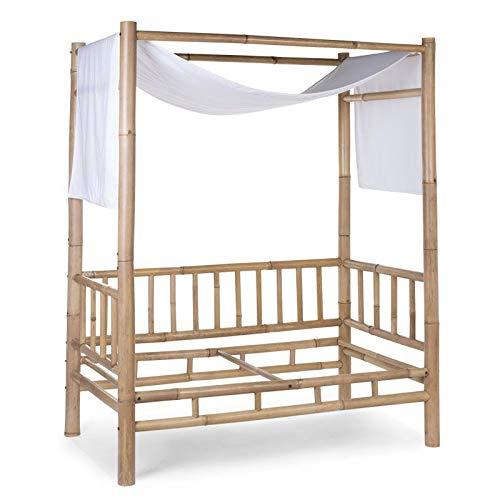 Voile de lit cabane bambou écru - Childhome