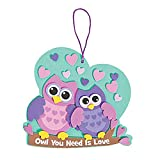 12 Owl You Need is Love Sign Foam Craft Kit~Valentines Day~School/Church/Classroom Project