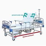 Perfilado de la cama de hospital Cama de enfermería Paciente de cama Cama de...