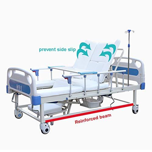 Perfilado de la cama de hospital Cama de enfermería Paciente de cama Cama de cuidado multifuncional Eléctrica Inteligente Casa de cuidado en el hogar Manual Paciente médico ajustable cama de hospital
