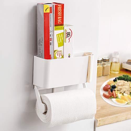 Soporte de toallas de papel ajustable Organizador de cocina Rack Organizador de especias Rack Adecuado para refrigerador, pared