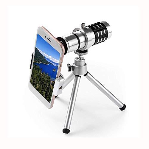 WNN-URG 12x21 High Definition monokulare und schnellen Smartphone-Halter Wasserdicht Monokular-BAK4 Prisma for die Vogelbeobachtung, Camping, Reisen URG