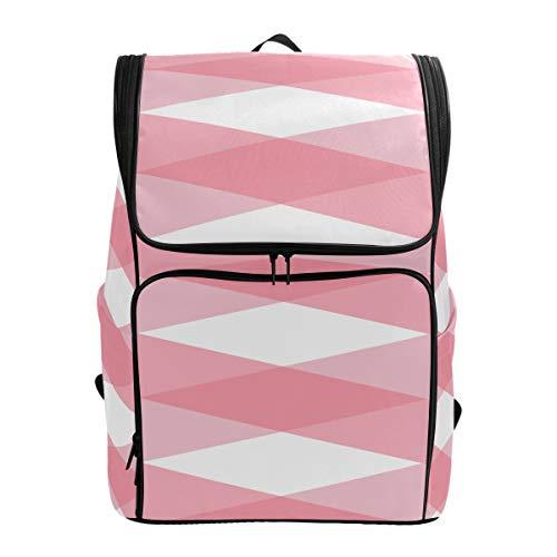 Pink Pattern Pink Traditional Gingham Bath Travel Bag Best Daypack Bag Backpack Large Bookbagsfits 15.6 Inch Laptop And Notebook Womans Bookbag