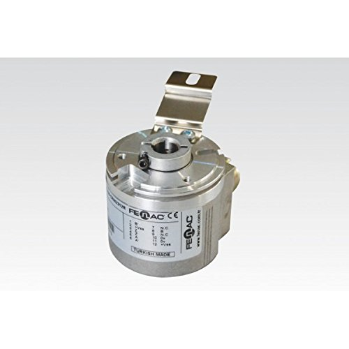 6 Channel Fenac FNC 100H 38630V5000-R2 Incremental Encoder 100mm Body Diameter 5000PPR 2m Cable Through Hollow Shaft 38mm 5-30V in//Out
