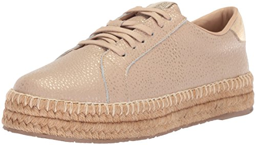 KAANAS Damen Arizona Leather Espadrille Sneaker Turnschuh, Cappuccino, 40 EU