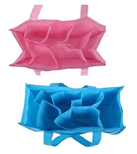 [pkpohs] マザーズバッグ 間仕切り 持ち手付き インナーバッグ [2個+護身用 ホイッスル セット] バッグ インバッグ 旅行 スポーツジム