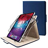 エレコム iPad Pro 11 2020 フラップケース ソフトレザー 360度回転 ネイビー TB-A20PM360NV