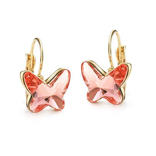 Pendientes Mariposa De Cristal Para Mujer Aleación Neoglory para regalo