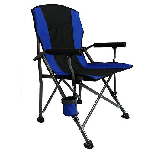 YANJ Silla de Camping portátil,Capacidad máxima de 440 Libras,sillas Plegables ultraligeras con Mochilas y Bolsillos de Almacenamiento (Azul)