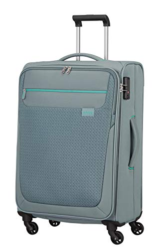 American Tourister Sunny South - Spinner M Koffer, 67 cm, 64.5 L, Grau (Grey)