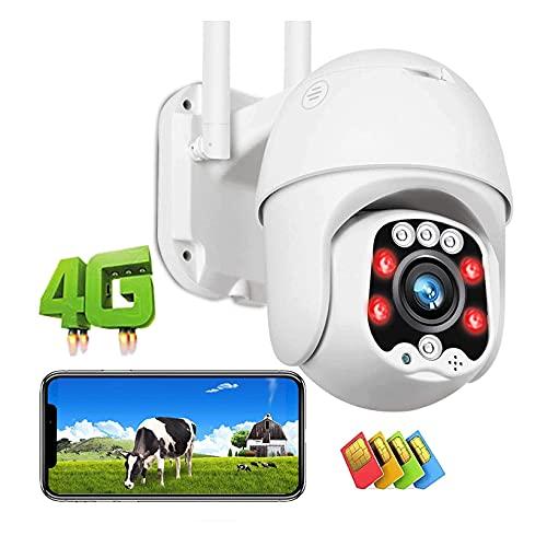 Cámara CCTV Al Aire Libre Seguridad IP 4G LTE Color Visión Nocturna 30m De Alta Definición De Alta Definición 1080p Dome GSM PTZ Vigilancia De La Cámara, Detección De Movimiento Intel(Size:Camera+32G)