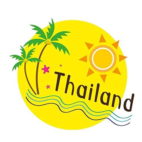 HKSOKLLJJ 3 Stück Autoaufkleber 12,4 cm * 11,2 cm niedliche Thailand Travel wasserdichte Selbstklebende reflektierende PVC-Aufkleber für Laptop Gepäck Notebook Autos Motorrad Fahrrad Aufkleber