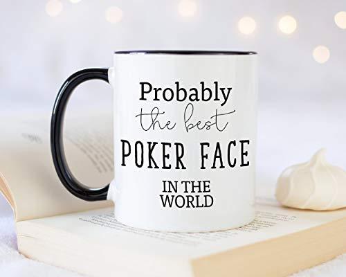 Sp567encer Wahrscheinlich das Beste Pokerface der Welt 11 Unzen Kaffeetasse Tee Geschenkidee für Casino Kartenspieler Spieler Glücksspiel Enthusiasten