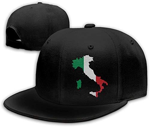 Moda Italia Italia Italia Mapa Italiano Hip Hop Sombrero de algodón de color puro pico gorra unisex, Fashion Italia Italia Italia -...