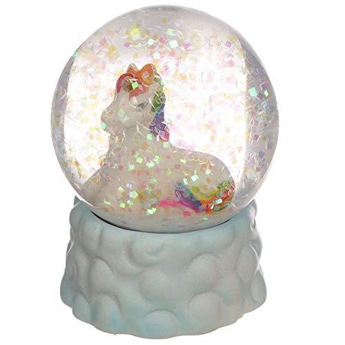 Puckator Bola de Nieve de Unicornio Blanco, Multicolor, Height 6cm Width 4.5cm Depth 4.5cm