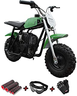 X-Pro Kids Dirt Pit Bike 40cc Mini Dirt Bike Gas Bike Off Road Ride-on Bikes with Gloves, Goggle and Handgrip